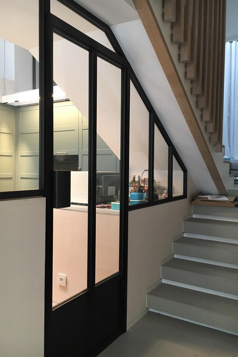 """Chassis Atelier D Artiste châssis décoratifs """"atelier d'artiste"""" dans une cuisine"""